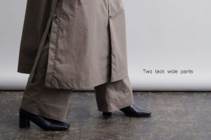 Two tack wide pants