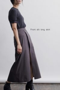 Front slit long skirt