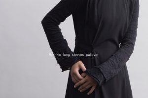 Wrinkle long sleeves pullover