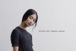 Wrinkle short sleeves pullover