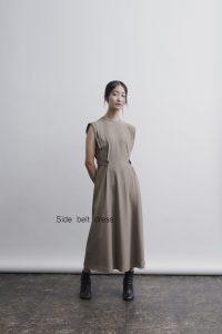Side belt dress